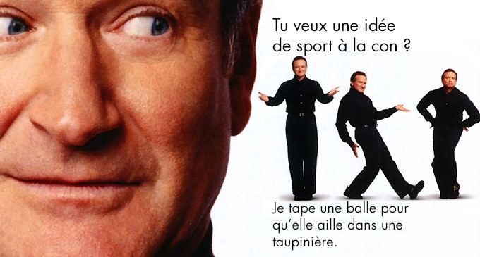 De l'origine du  Golf à Tiger Woods par Robin Williams