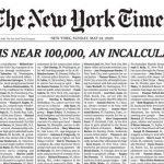 Mise à jour sur le coronavirus: la première page du New York Times répertorie 1 000 Américains tués dans une pandémie de COVID