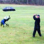 Sidelines: Le jour du retour du golf, Fred 'Derf' Harlow montre ce que signifie le désir de jouer