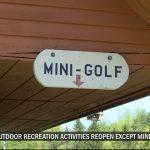 Les activités de loisirs en plein air commencent à rouvrir, sauf le mini-golf