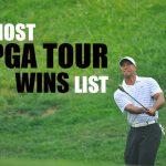 La plupart des victoires de la PGA Tour