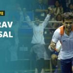 Ghosal: distanciation sociale impossible lors d'un match de squash