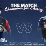Le match avec Tiger Woods, Phil Mickelson, Tom Brady et Peyton Manning: Aperçu et lignes de paris